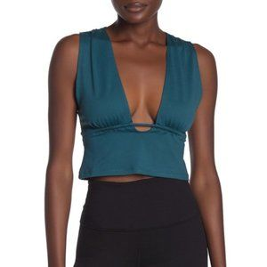 FP MOVEMENT Locust Cora Plunge Cropped Tank Top S